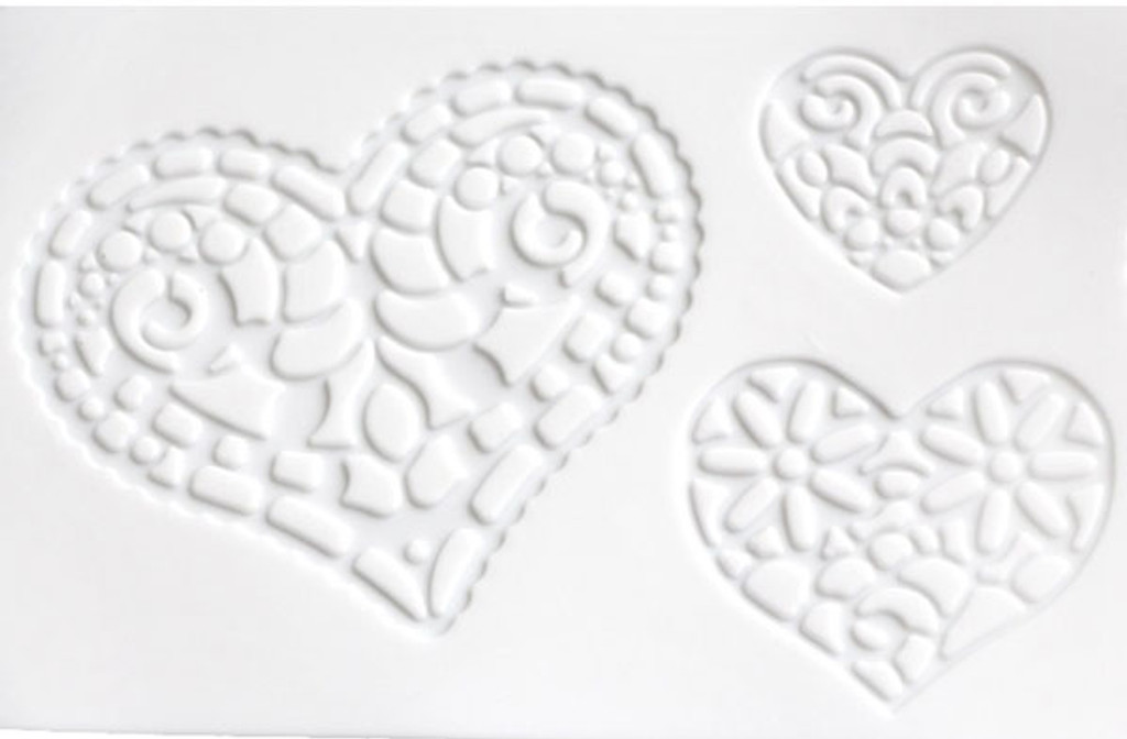 Heart Lace Silicone Mold/Mat 3 patterns
