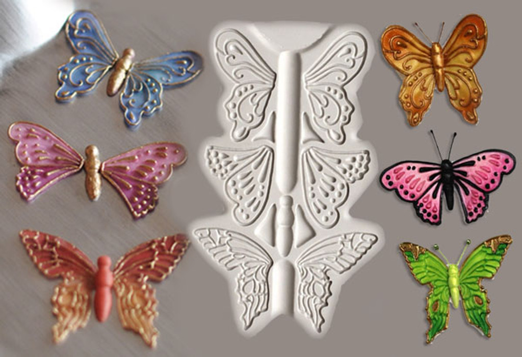 Butterfly Parts Silicone Mold