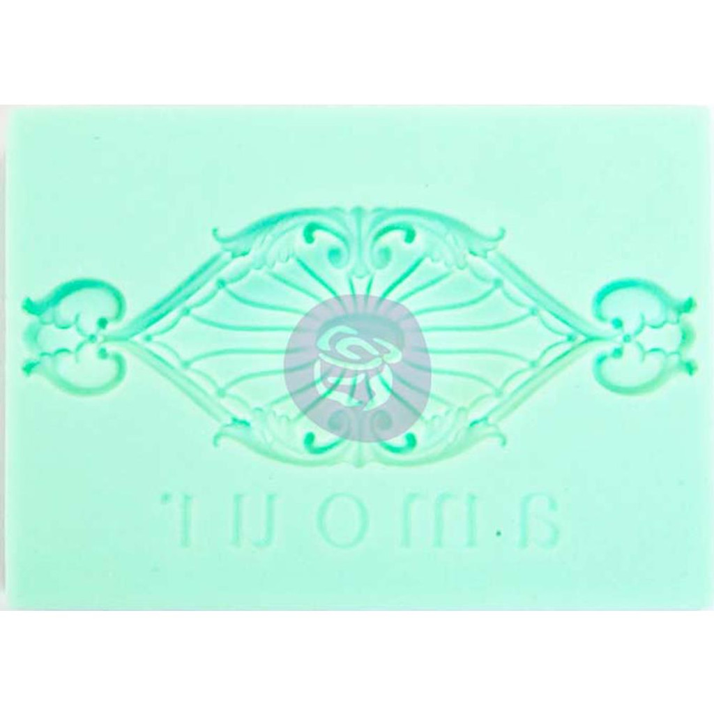 "Amour - Iron Orchid Designs Vintage Art Decor Mould 2.5""X3.5"""