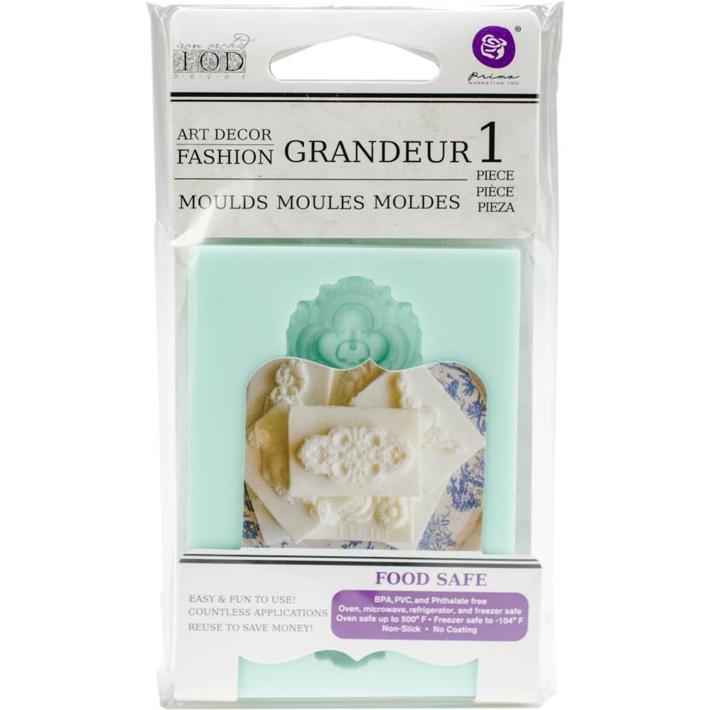 """Grandeur - Iron Orchid Designs Vintage Art Decor Mould 2.5""""X3.5"""""""