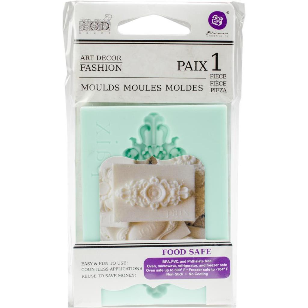"""Paix - Iron Orchid Designs Vintage Art Decor Mould 2.5""""X3.5"""""""