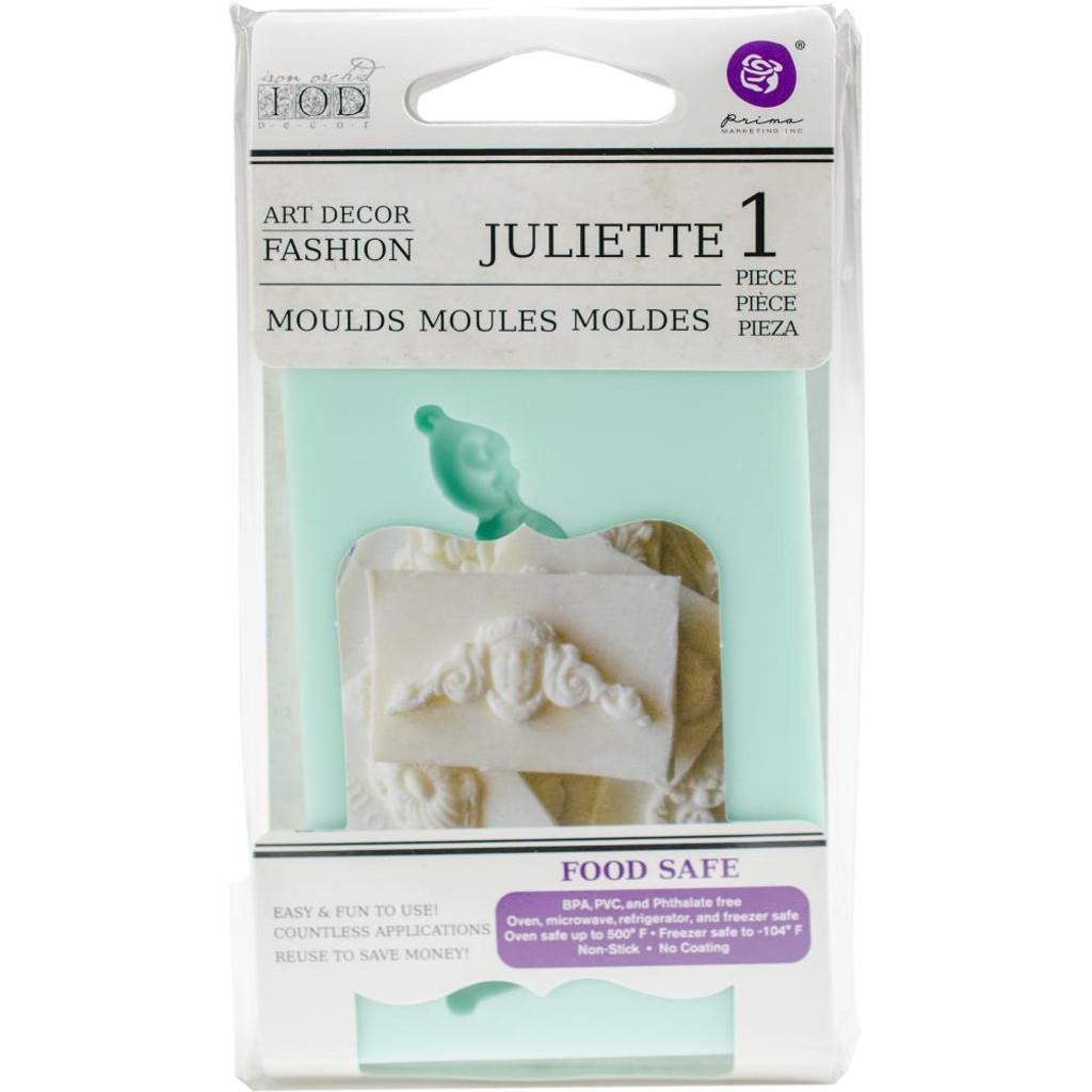 """Juliette - Iron Orchid Designs Vintage Art Decor Mould 2.5""""X3.5"""""""