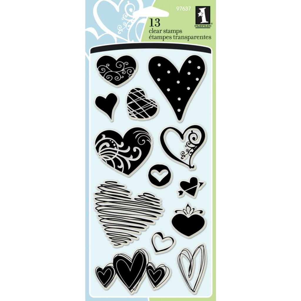 Clear Stamps Hearts