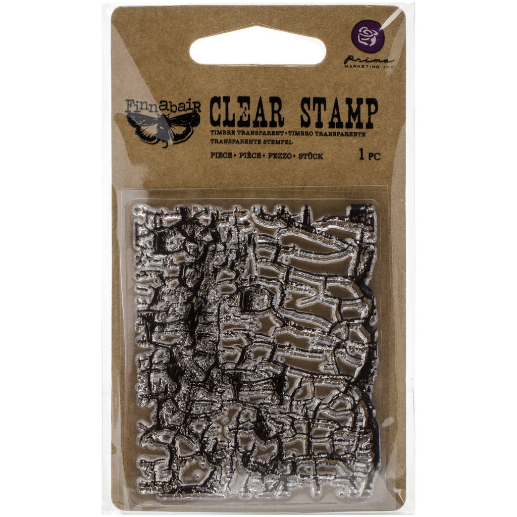 Crackle Messy Stamp Finnabair by Prima Marketing 2.5 x 3