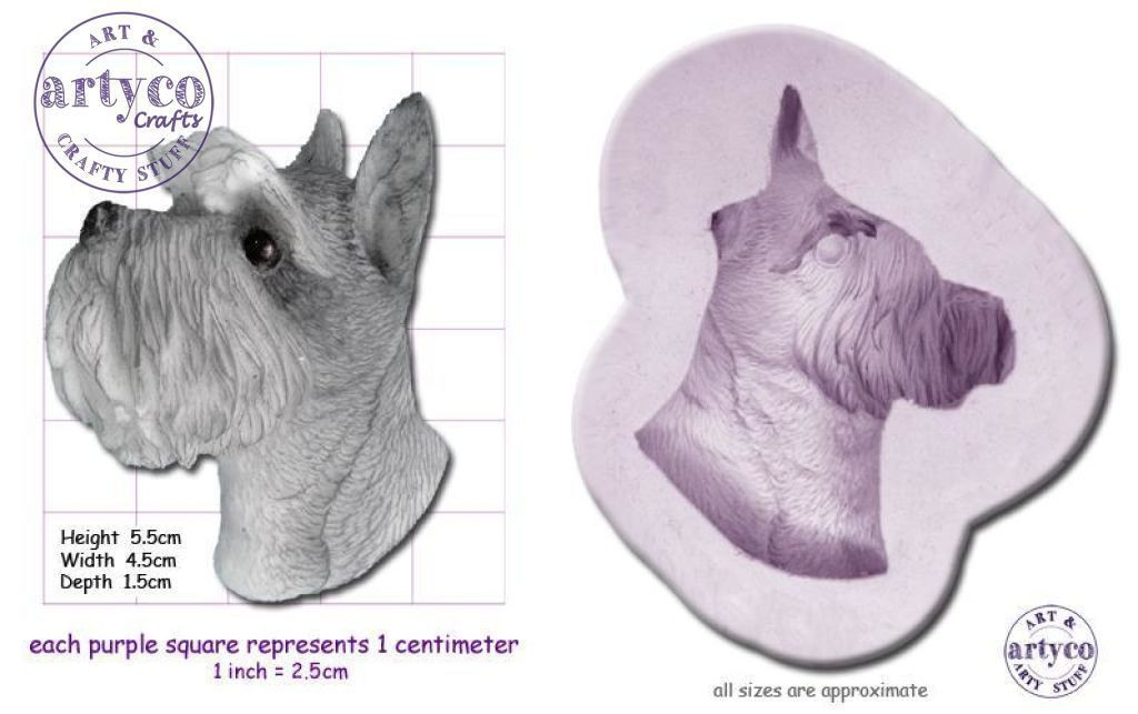 Dog - Schnauzer Head Mold