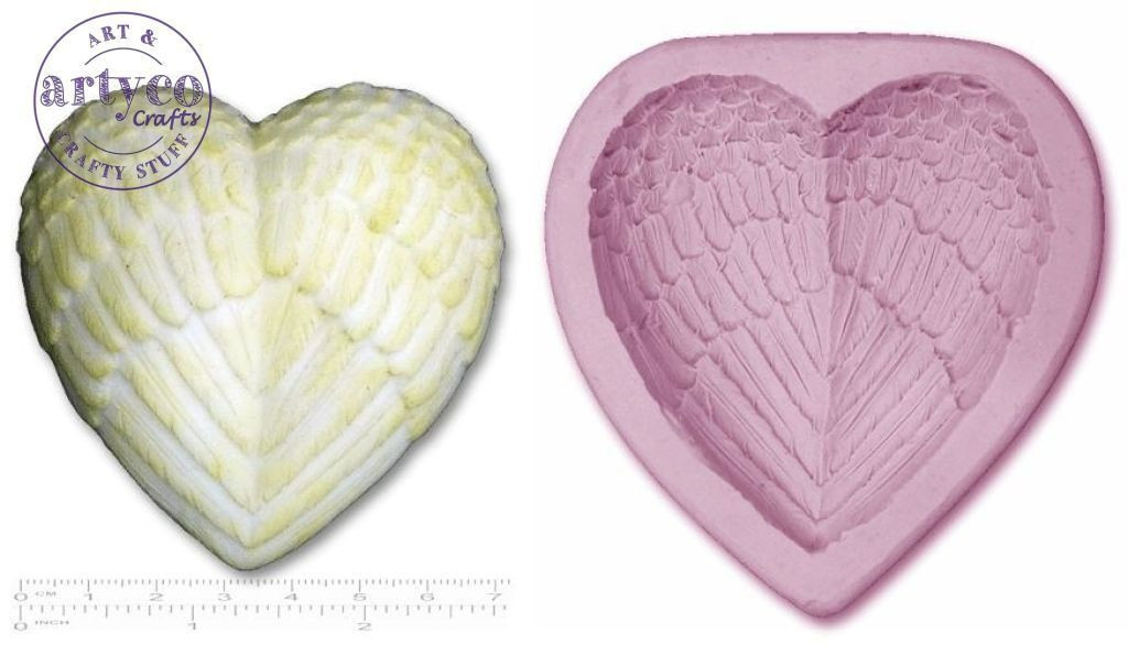 Angel Wings Heart Mold