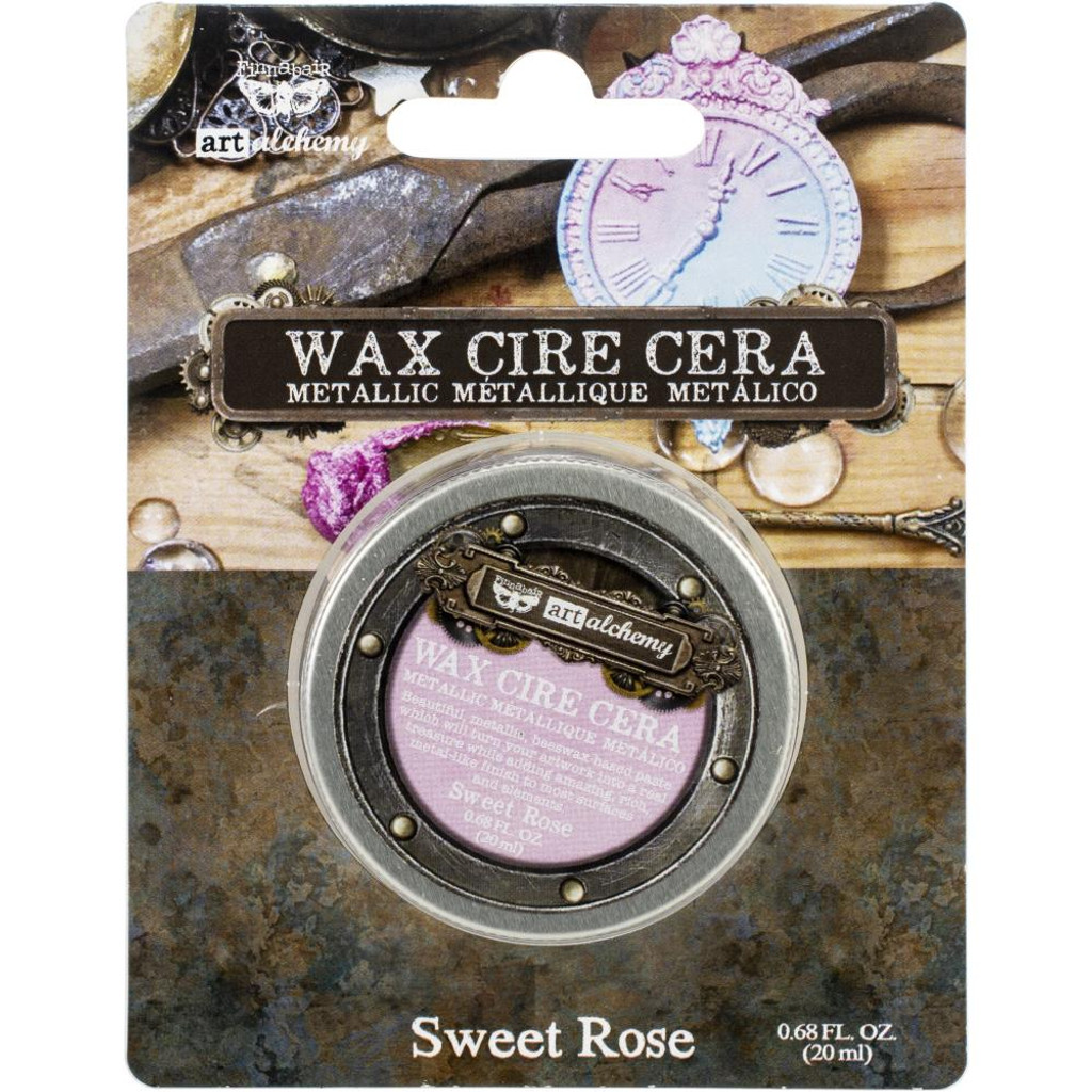 Finnabair Art Alchemy Metallique Wax - Sweet Rose