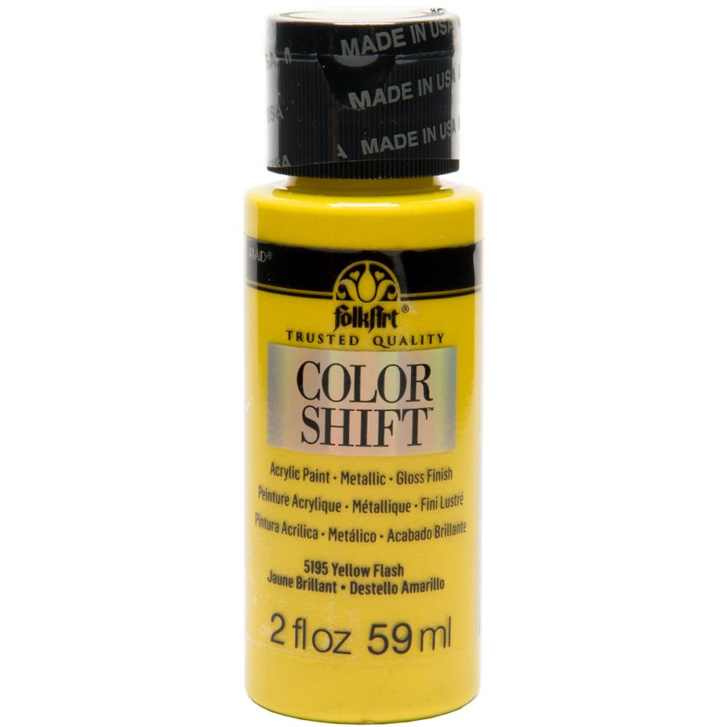 FolkArt Color Shift 2oz Paint - Yellow Flash