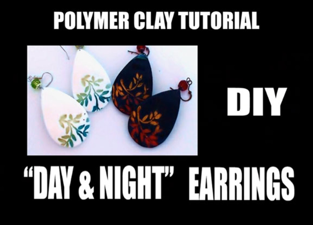 Day and Night Earrings using Powders - Free Tutorial
