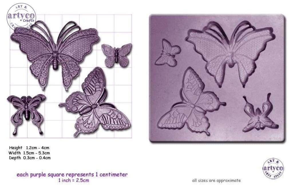 Steam Punk Butterflies Mold