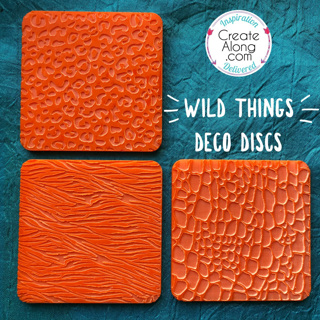 Deco Disc Wild Things stamps texture and stamp animal print designs
