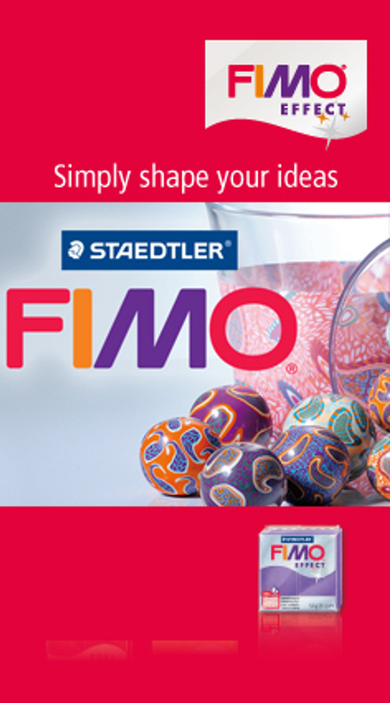 Fimo Effect Glitter Red
