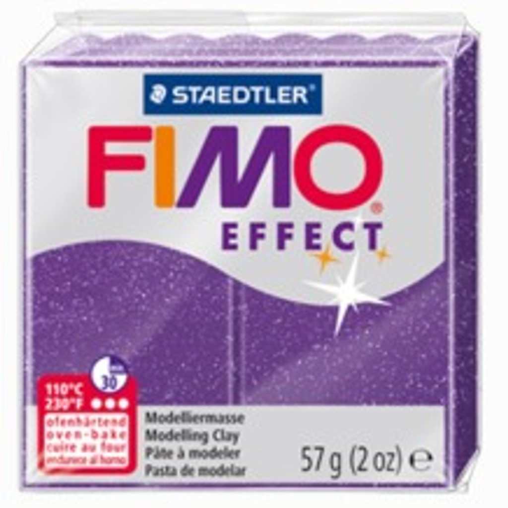 Fimo Effect Glitter Purple