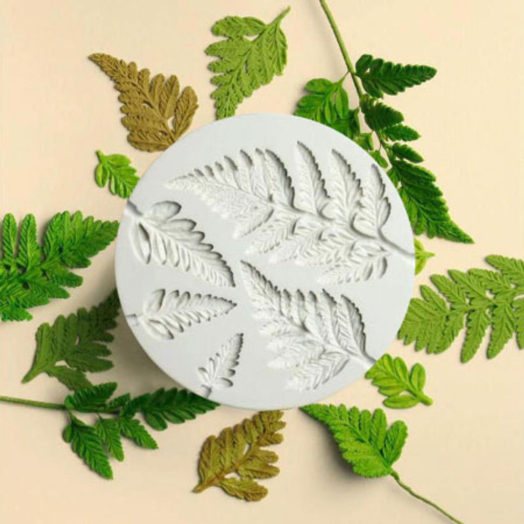 5 Fern Leaves Mold