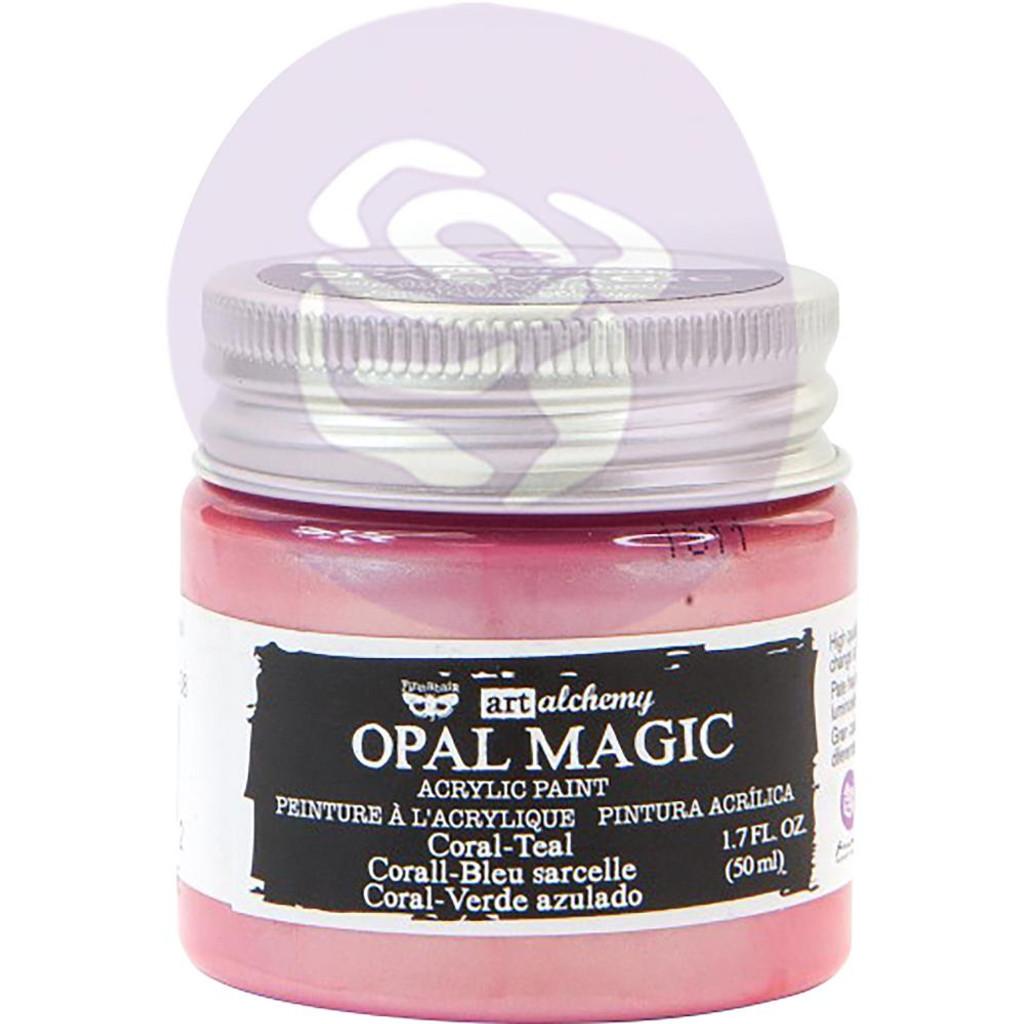 Finnabair Art Alchemy Acrylic Paint - Opal Magic Coral/Teal