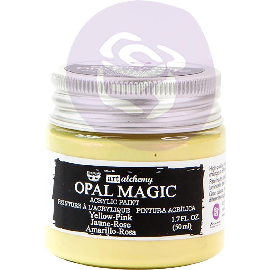 Finnabair Art Alchemy Acrylic Paint - Opal Magic Yellow/Pink