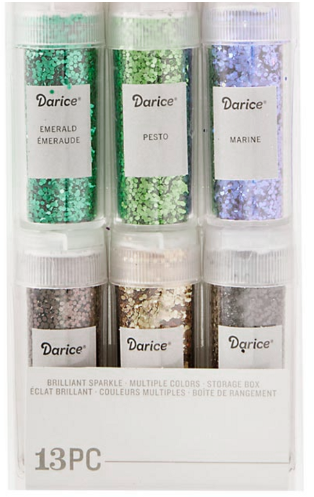 Chunky Glitter Set 12 Assorted Colors