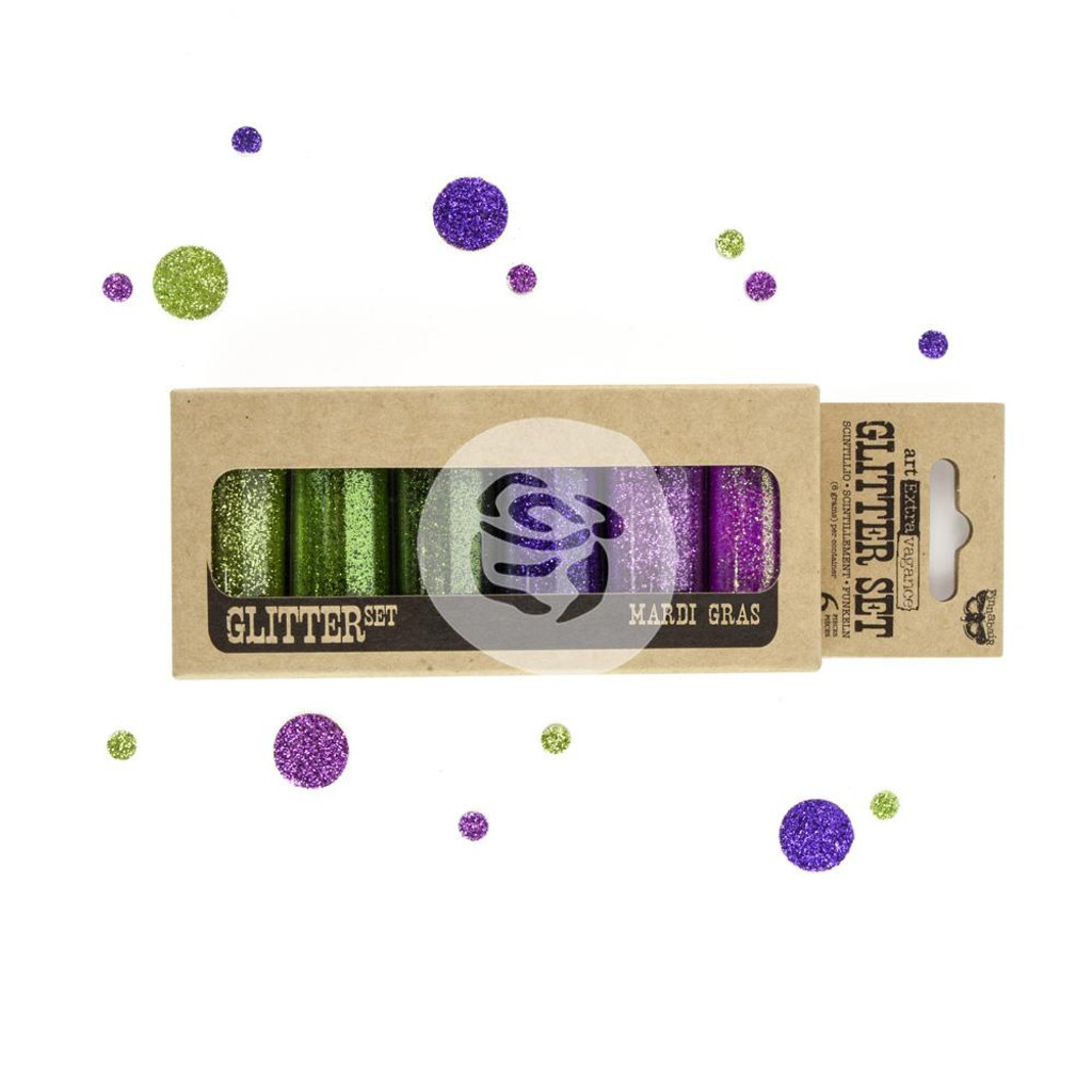 Finnabair Art Extravagance Glitter 6g 6/Pkg Mardi Gras