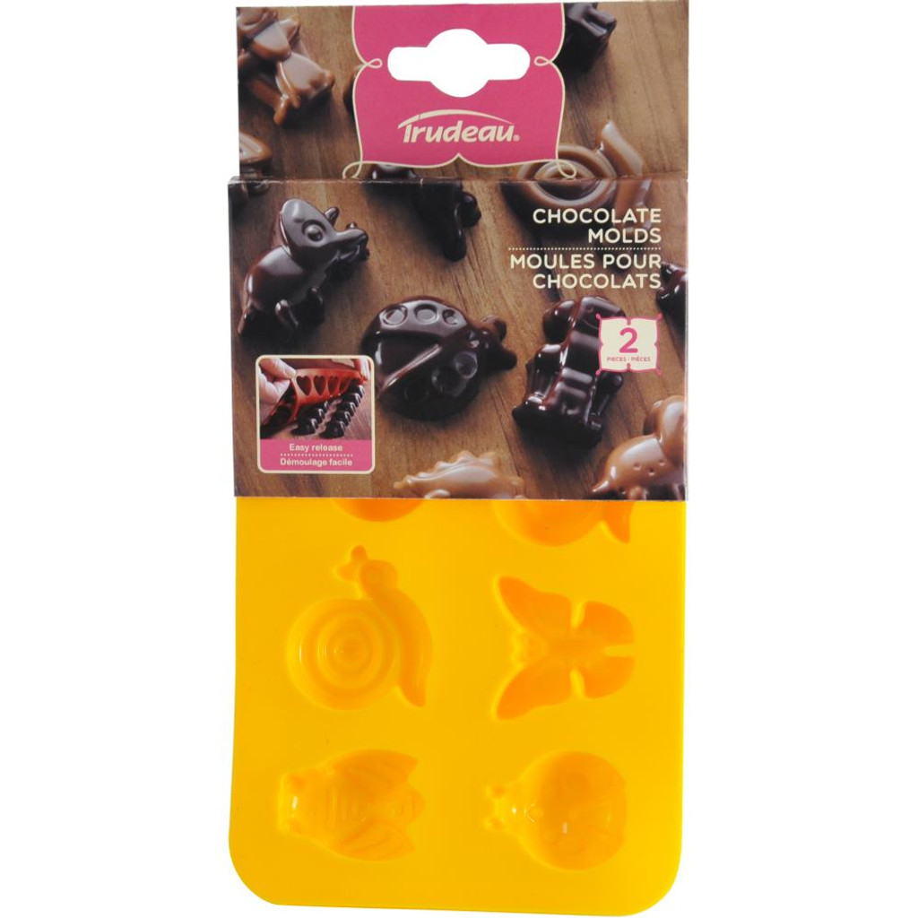 Bugs Butterflies, Ladybugs Silicone Candy Mold 2/Pkg