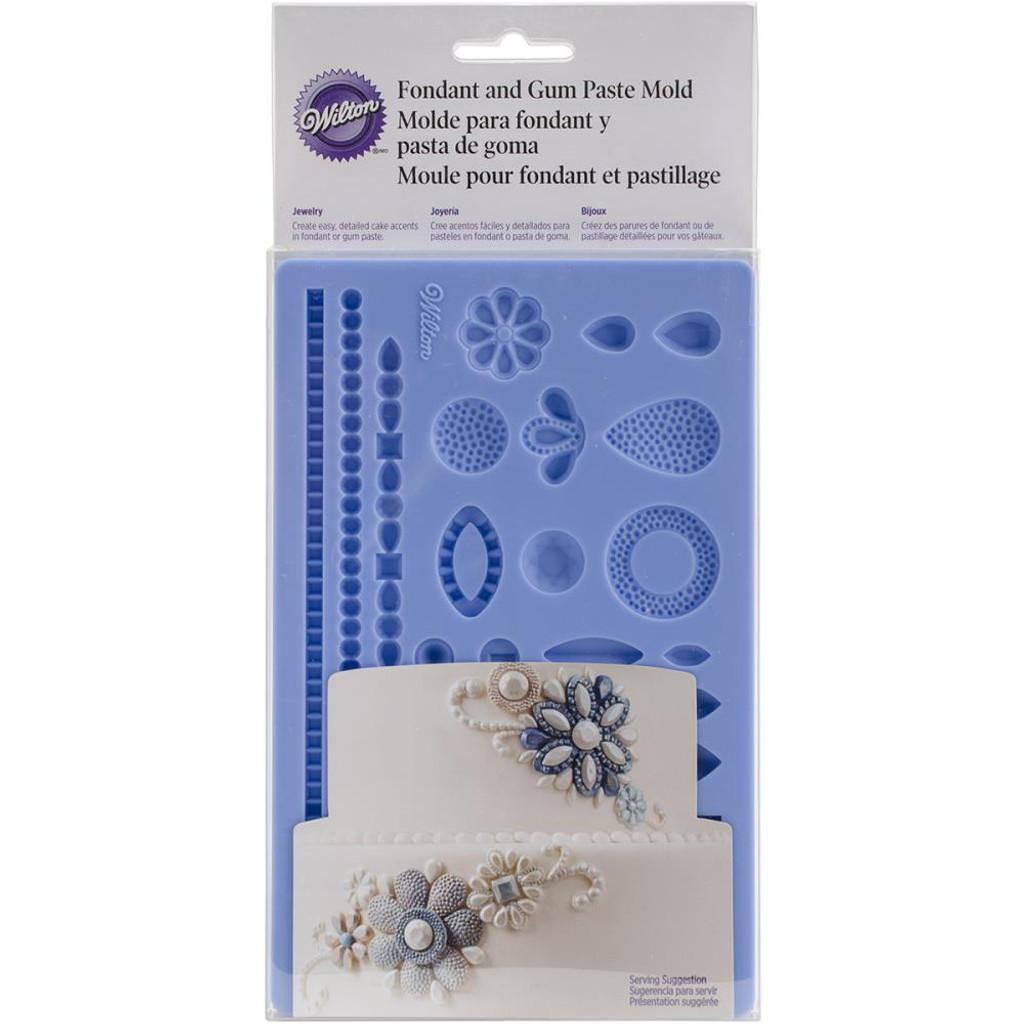 "Wilton Jewelry Fondant & Gum Paste Silicone Mold 5""X7.75"""