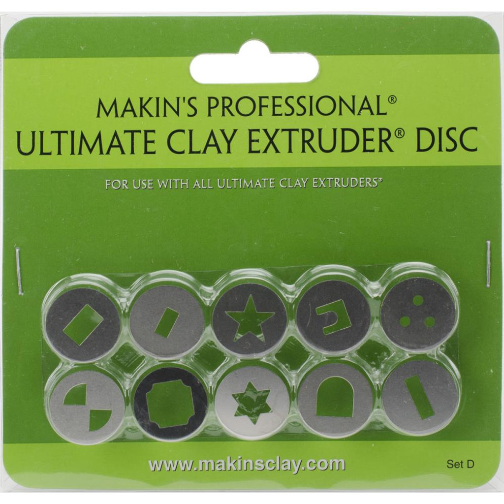 Makin's Professional Ultimate Clay Extruder Discs 10/Pkg Set D