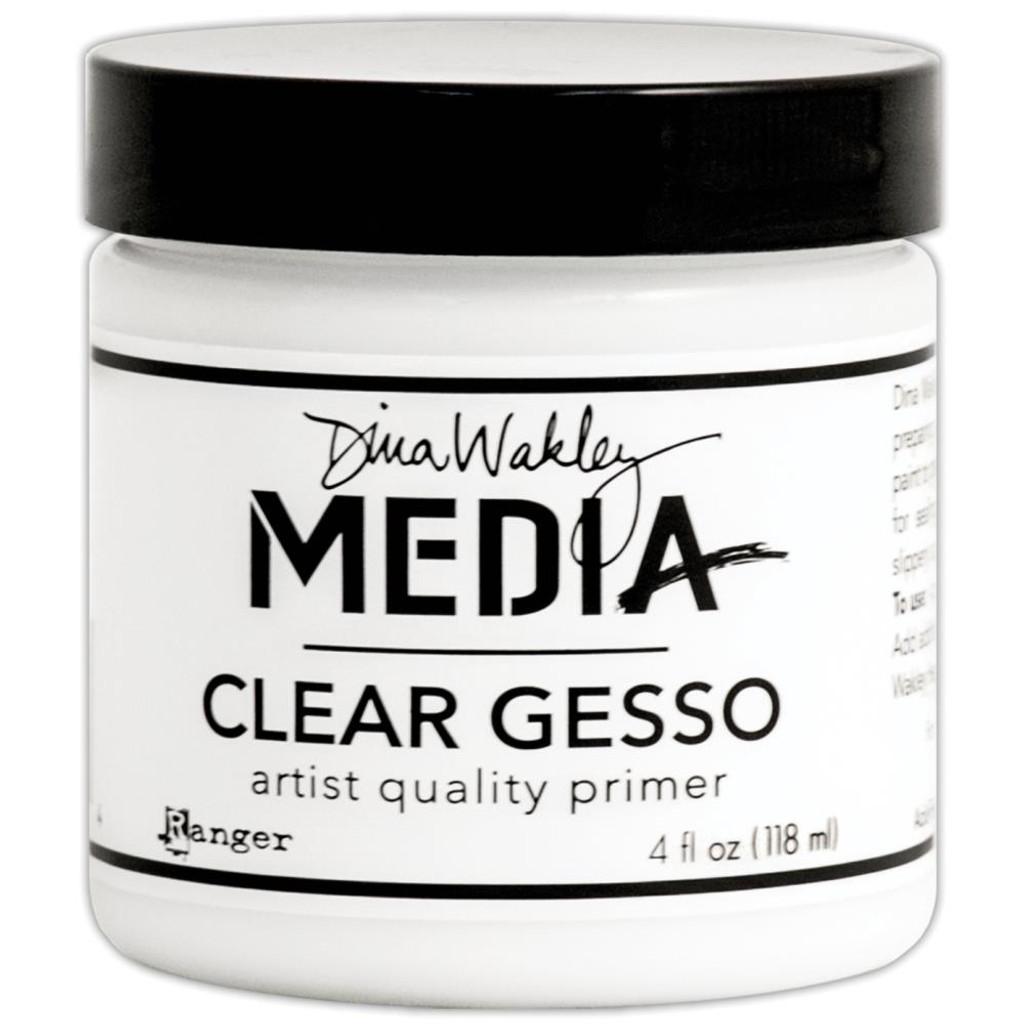 Dina Wakley Media Clear Gesso Jar or Bottle