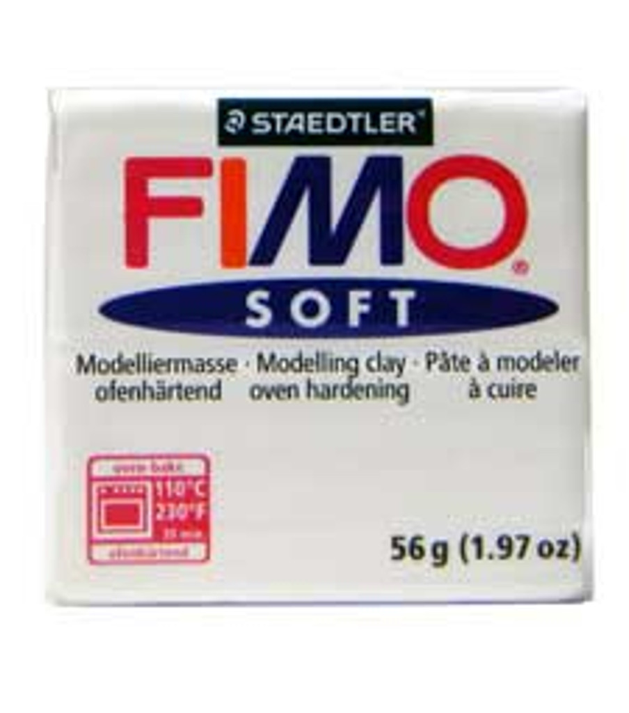 Fimo Soft Polymer Clay - White