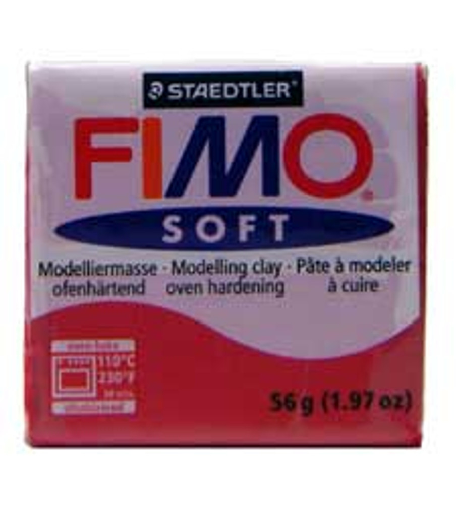 Fimo Soft Polymer Clay - Cherry Red