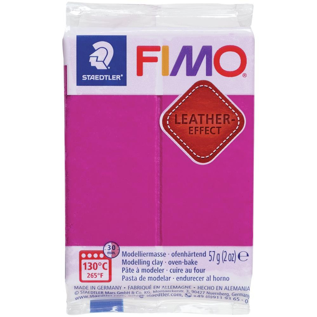 Fimo Leather Effect - Berry