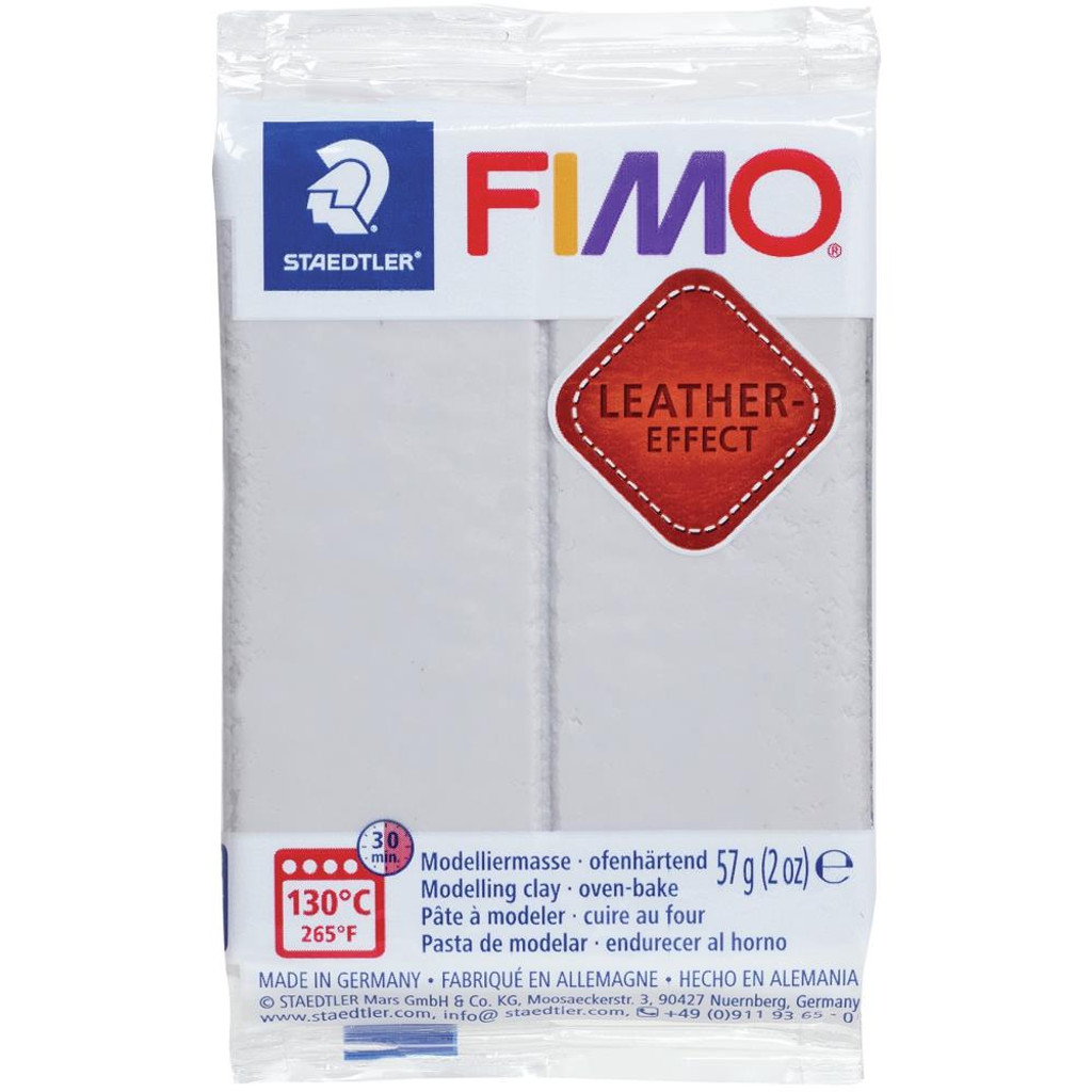 Fimo Leather Effect - Dove Grey