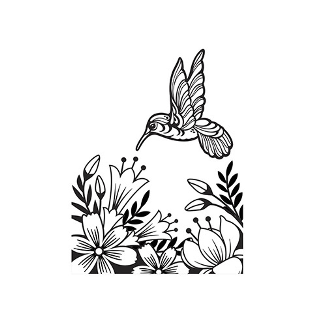 "Hummingbird - Background Embossing Folder 4.25""X5.75"""