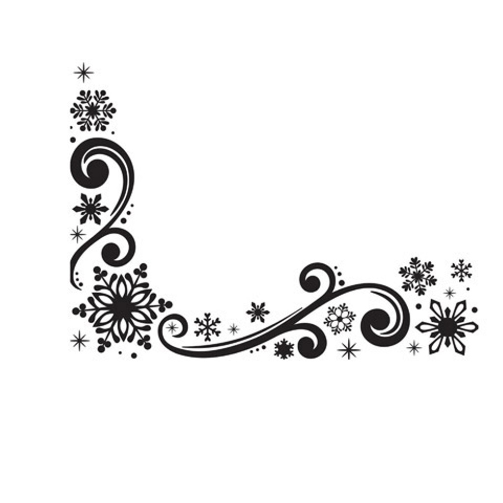 "Snowflake Scroll - Background Embossing Folder 4.25""X5.75"""