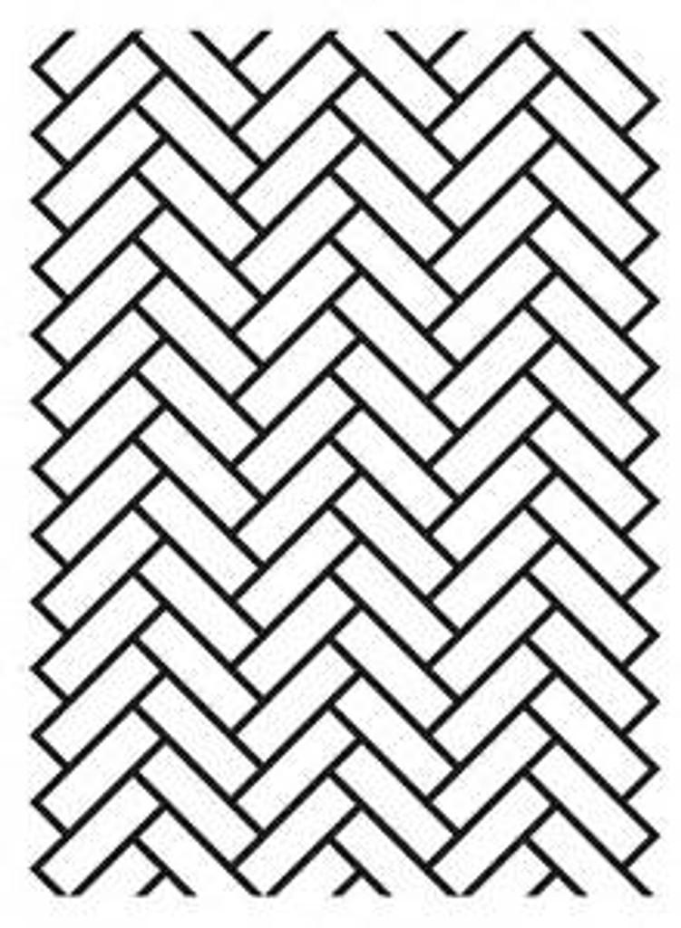 "Herringbone - Background Embossing Folder 4.25""X5.75"""