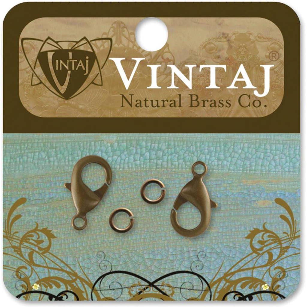 Classic Natural Brass Lobster Clasps 15mm