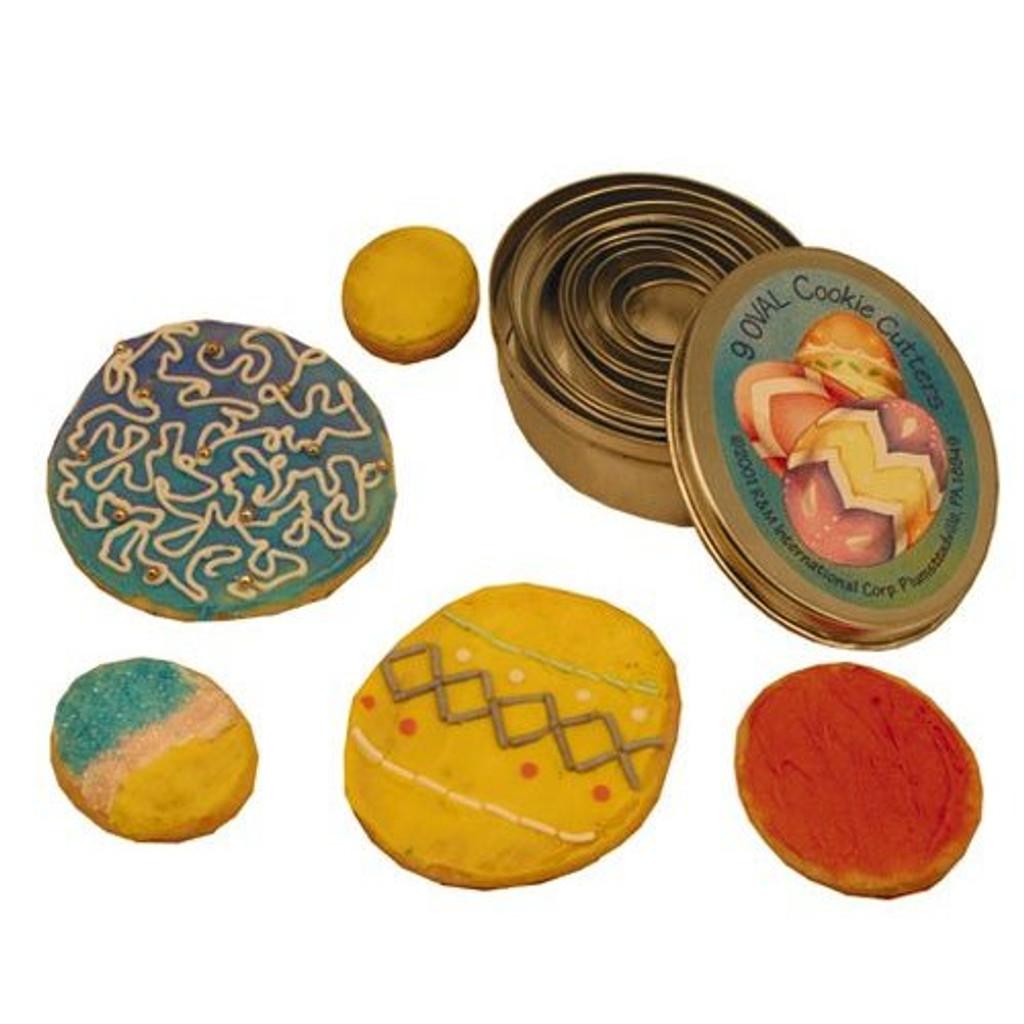 Cutters 9 Piece Oval Tin Set