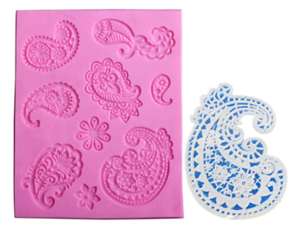 Paisley Flower Lace Design Mold