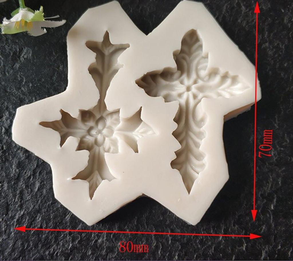 Delicate Leaf Cross Mold (2)