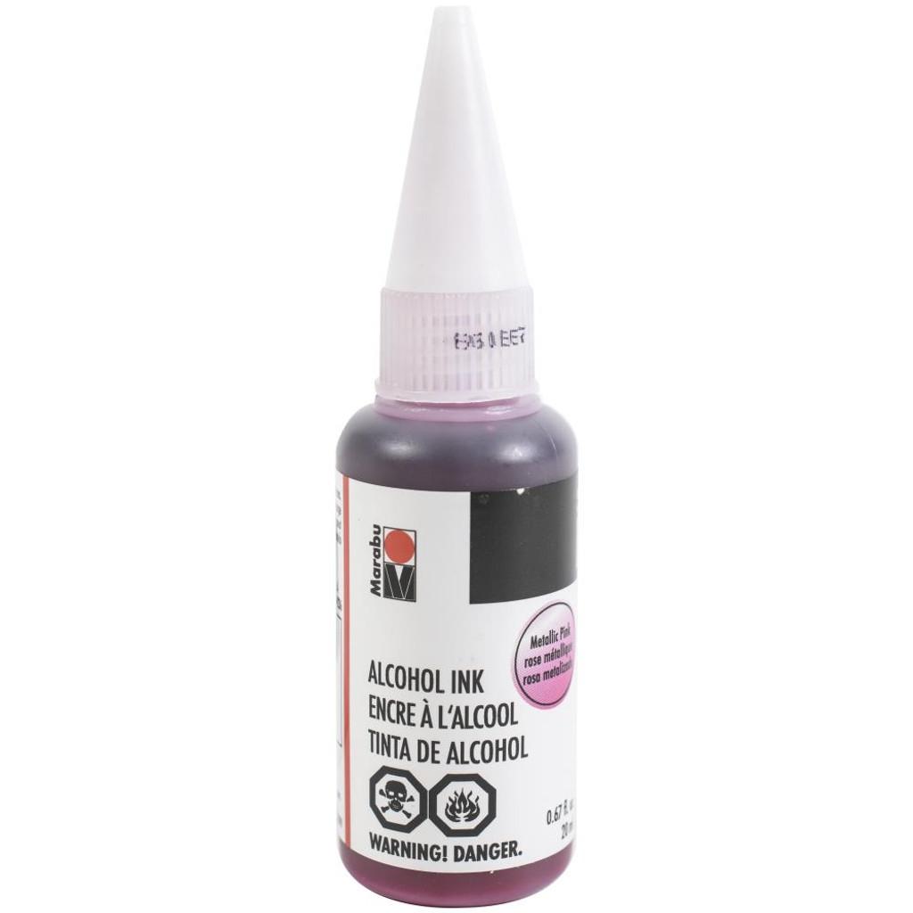 Marabu Alcohol Ink 20ml - Metallic Pink