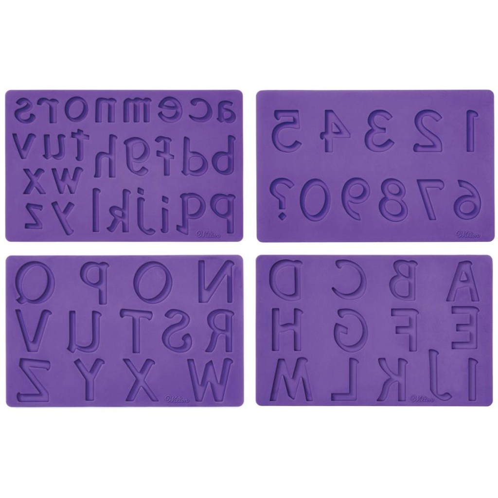 Wilton Letters and Numbers Designs Mold