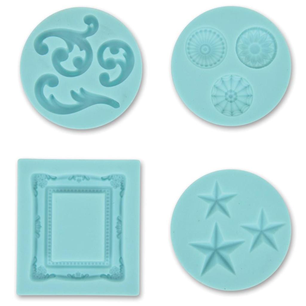 Martha Stewart Silicone Molds 4/Pkg Decorative Design