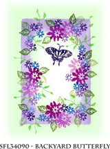 Rubber Stamps Backyard Butterfly Set