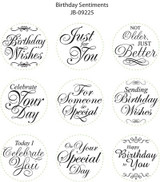 JustRite Rubber Stamps Birthday Sentiments Set