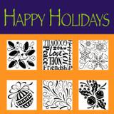 Rubbing Plates - Happy Holidays
