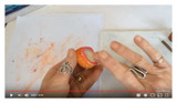 Polymer Clay Beads Using Chalk Video by Debbie Crothers