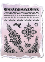 Rubber Stamp Set by Viva Decor - Borders and Motifs