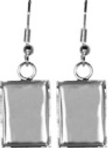 Bezel Earrings - Rectangle