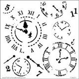 Stencil Time Travel 6 x 6