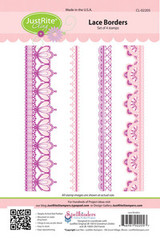 JustRite Rubber Stamps Lace Borders Set