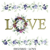 Rubber Stamps LOVE Set