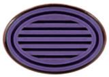 JustRite Rubber Wood Stamper Oval